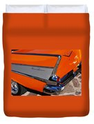 1957 Chevrolet Belair Coupe Tail Fin Duvet Cover
