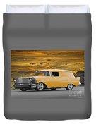 1957 Chevrolet Sedan Delivery II Duvet Cover