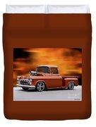 1957 Chevrolet Stepside Pickup Ll Duvet Cover