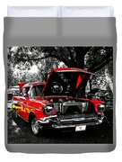1957 Chevy Bel Air Duvet Cover