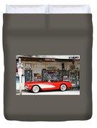 1957 Corvette Hackberry Arizona Duvet Cover