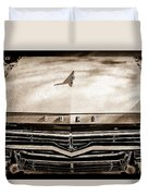 1957 Ford Custom 300 Series Ranchero Grille Emblem -0465s Duvet Cover