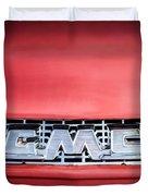 1957 Gmc Pickup Truck Grille Emblem -0329c1 Duvet Cover