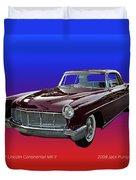 1957 Lincoln M K I I Duvet Cover