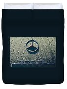 1957 Mercedes Benz 300sl Roadster Emblem Duvet Cover by Jill Reger