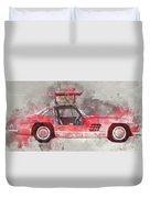 1957 Mercedes Gullwing Duvet Cover