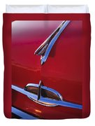 1957 Oldsmobile Hood Ornament 4 Duvet Cover