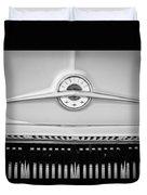 1957 Pontiac Safari Emblem -0737bw Duvet Cover