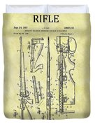 1957 Rifle Patent Duvet Cover