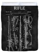 1957 Rifle Patent Illustration Duvet Cover