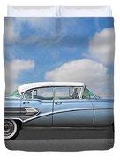 1958 Buick Roadmaster 75 Duvet Cover