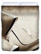 1958 Cadillac Eldorado Biarritz Taillight Emblems -0255s Duvet Cover