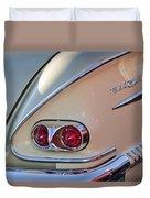 1958 Chevrolet Belair Taillight Duvet Cover