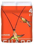 1958 Ecuador Hummingbirds Postage Stamp Duvet Cover