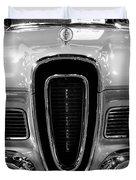 1958 Edsel Pacer Black And White Duvet Cover