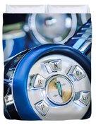 1958 Edsel Ranger Push Button Transmission Duvet Cover