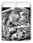 1958 Impala Beauty Within The Beast Duvet Cover