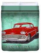 1958 Impala By Chevrolet Duvet Cover
