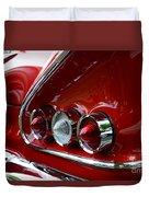 1958 Impala Tail Lights Duvet Cover