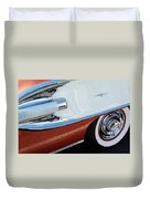 1958 Pontiac Bonneville Wheel Duvet Cover