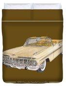 1959 Chevrolet Impala Convertible Duvet Cover