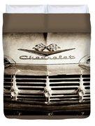 1959 Chevrolet Impala Grille Emblem -1014s Duvet Cover