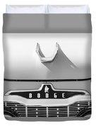 1959 Dodge Coronet Emblem - Hood Ornament -0903bw Duvet Cover