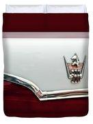 1959 Dodge Custom Royal Super D 500 Emblem Duvet Cover