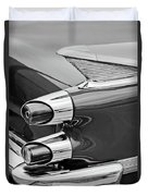 1959 Dodge Custom Royal Super D 500 Taillight -0233bw Duvet Cover