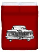 1959 Edsel Ford Ranger Illustration Duvet Cover