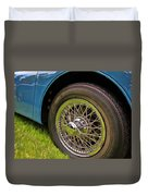 1959 Jaguar X K 150s Wire Wheel Duvet Cover