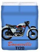 1959 T120 Bonneville Duvet Cover