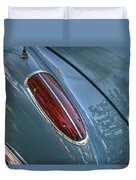 1960 Chevrolet Corvette Tail Light Duvet Cover