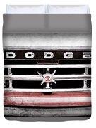 1960 Dodge Truck Grille Emblem -0275ac Duvet Cover