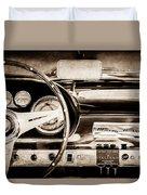 1960 Maserati 3500 Gt Spyder Steering Wheel Emblem -0407s Duvet Cover