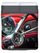 1960 Rambler Dashboard Duvet Cover