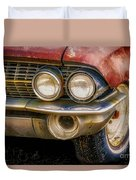 1961 Cadillac Headlight Duvet Cover