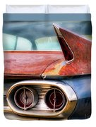 1961 Cadillac Tail Light And Fin Duvet Cover