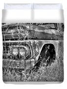 1961 Chevrolet Apache 10 Black And White 4 Duvet Cover