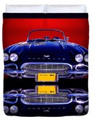 1961 Chevy Corvette Duvet Cover