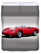 1961 Ferrari Tr61 Rossa Corso Duvet Cover