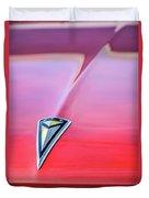 1961 Pontiac Catalina Hood Emblem Duvet Cover