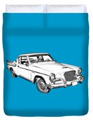 1961 Studebaker Hawk Coupe Illustration Duvet Cover