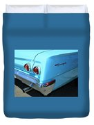 1962 Chevy - Chevrolet Biscayne Logos And Tail Lights Duvet Cover
