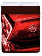 1963 Chevrolet Impala Ss Red Duvet Cover