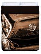1963 Chevy Impala Ss Sepia Duvet Cover