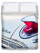 1963 Mercury Meteor Taillight Emblem Duvet Cover