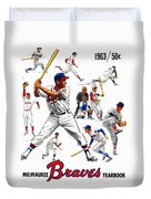 1963 Milwaukee Braves Yearbook Duvet Cover