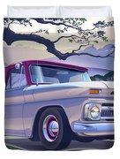 1964 Chevrolet Short Bed Custom Half Ton In The Morning Mist Duvet Cover