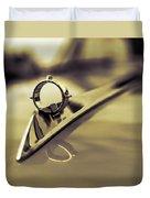 1964 Ford Galaxie 500 Xl Hood Ornament - Sepia Duvet Cover